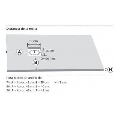 Plato Ducha Resina a medida PIEDRA