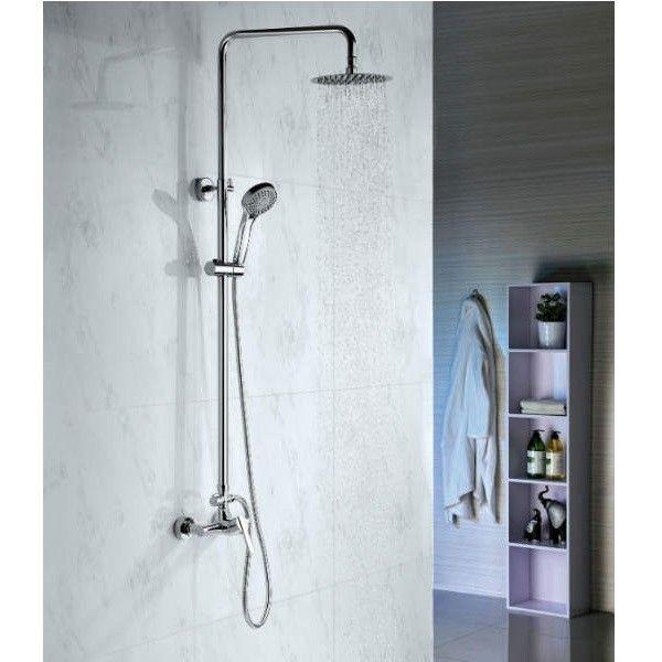 Conjunto de ducha con grifo monomando,barra acero inoxidable y rociador-Env/ío y devoluci/ón gratis