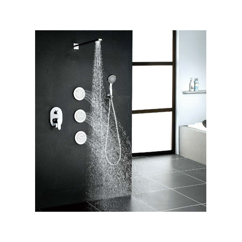 Conjunto empotrado ducha IBIZA monomando
