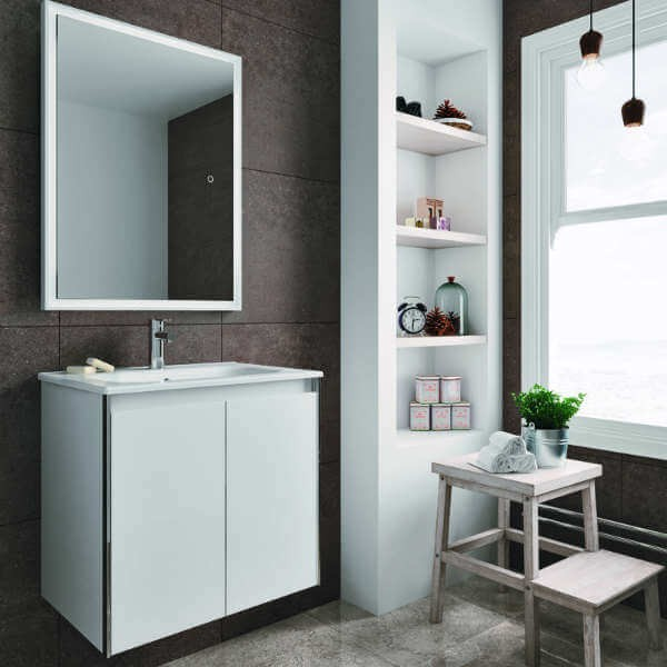 Mueble de ba o lavabo modelo look 60 de 2 puertas online - Aki muebles de bano ...