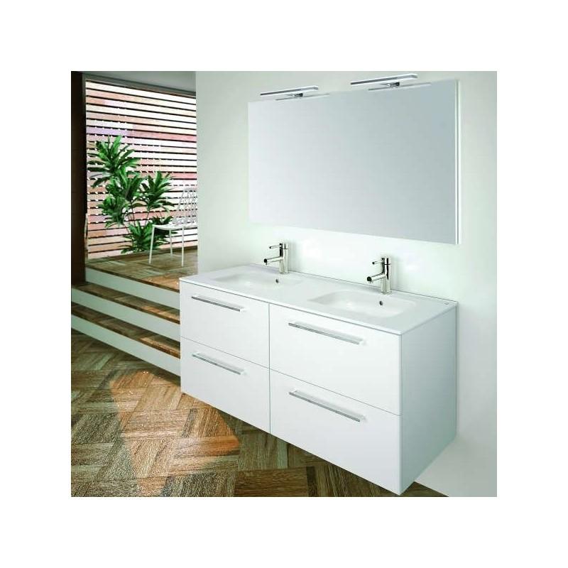 Mueble de ba o valencia 120 mueble lavabo espejo for Precio de juego de bano