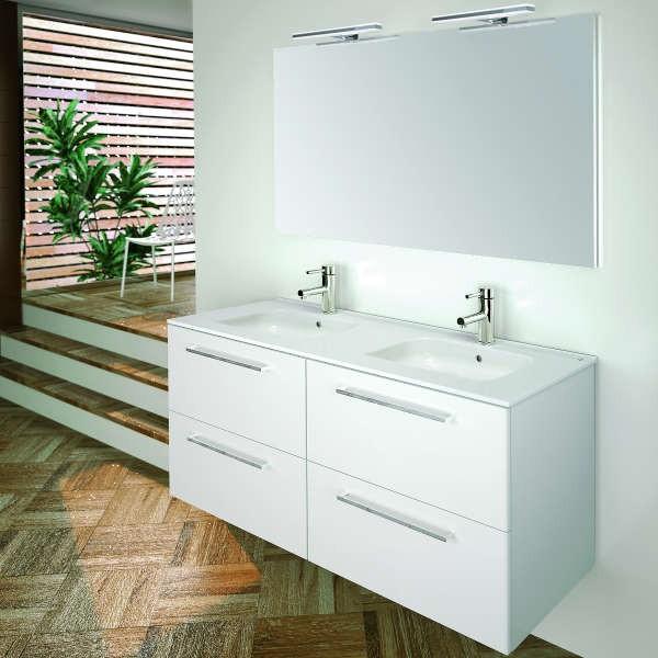 Mueble de ba o valencia 120 mueble lavabo espejo for Mueble espejo bano ikea