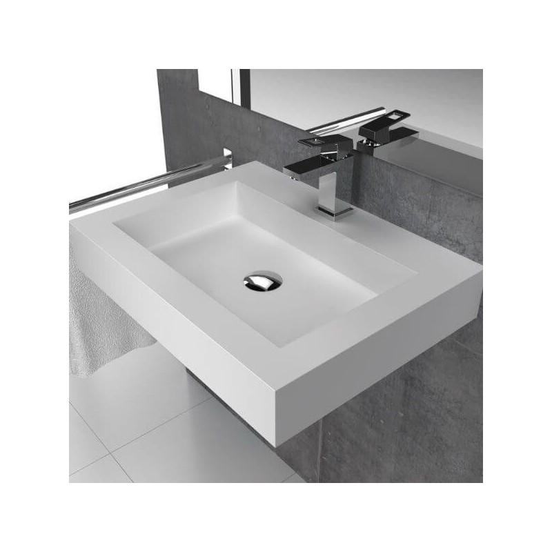Lavabo rectangular solid surface modelo bristol online for Lavabo rectangular
