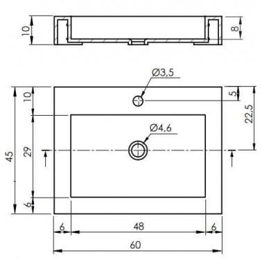 Lavabo rectangular BRISTOL