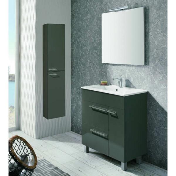 Mueble de Baño BILBAO 70 cm Mueble + Lavabo + Espejo + Luminaria