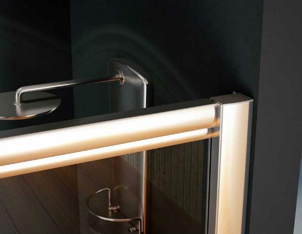 Mampara de ducha acr lica semicircular a medida modelo orinoco - Mamparas acrilicas para ducha ...