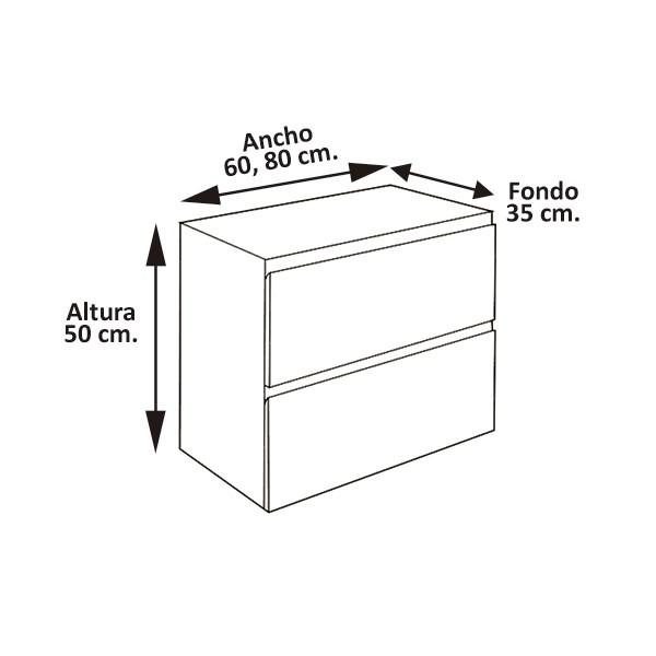 Muebles Baño Granada | Mueble Bano Modelo Granada 60cm Diseno Y Calidad Solo En Asealia