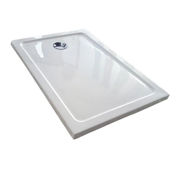 Plato de ducha acr lico rectangular liso altura 4cm en - Plato de ducha acrilico ...