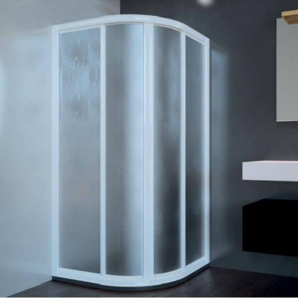Mampara de ducha acr lica semicircular 2 fijos 2 for Mamparas de bano de acrilico