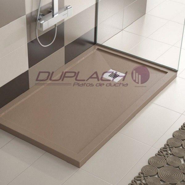 Plato ducha resina enmarcado modelo stone marco de duplach - Duchas sin plato ...