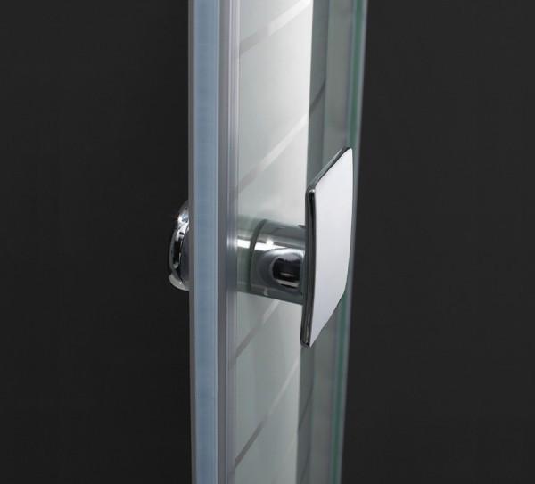 Mampara de ducha modelo frontal 2 puertas abatibles slim - Mamparas abatibles para ducha ...
