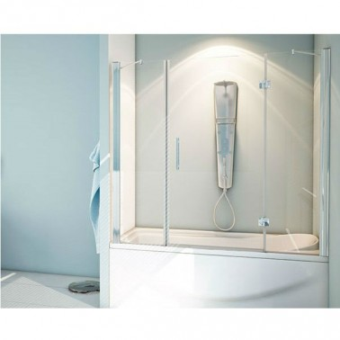 Mampara de bañera fijo + abatible + fijo TURCA