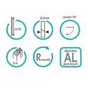 Mampara angular 2 fijos + 2 puertas abatibles GLASS