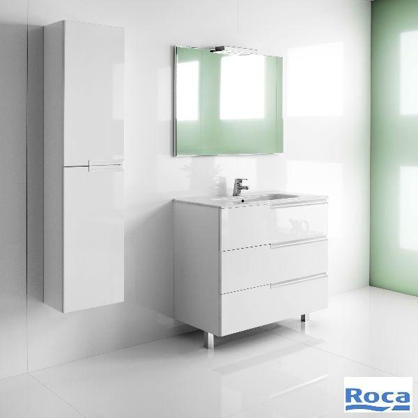 Mueble De Bano Modelo Victoria N Family Medida 60 Cm Color Blanco