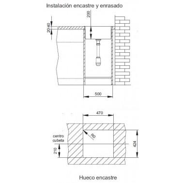 Fregadero cocina INOX AKTUELL 4540