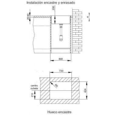 Fregadero cocina INOX AKTUELL 7140