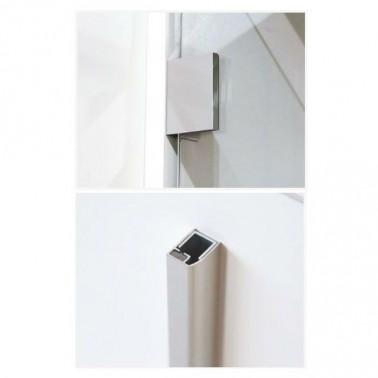 Mampara de ducha abatible Profiltek modelo GLOSS