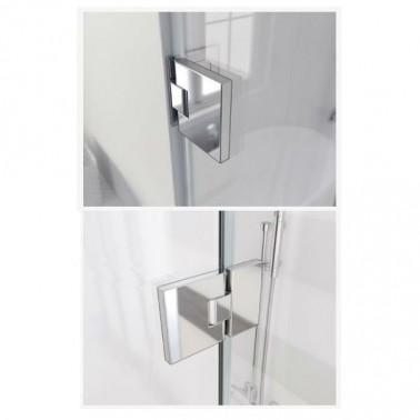 Mampara de ducha Abatible + Fijo Profiltek modelo GLOSS