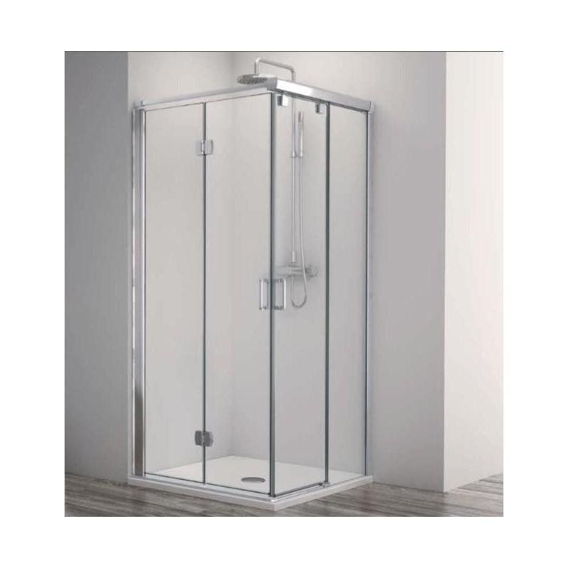 Mampara de ducha Profiltek Angular Lado F+C y Lado Plegable ES-218