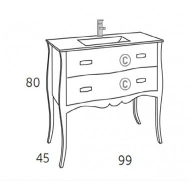 Mueble de baño ARANJUEZ 100