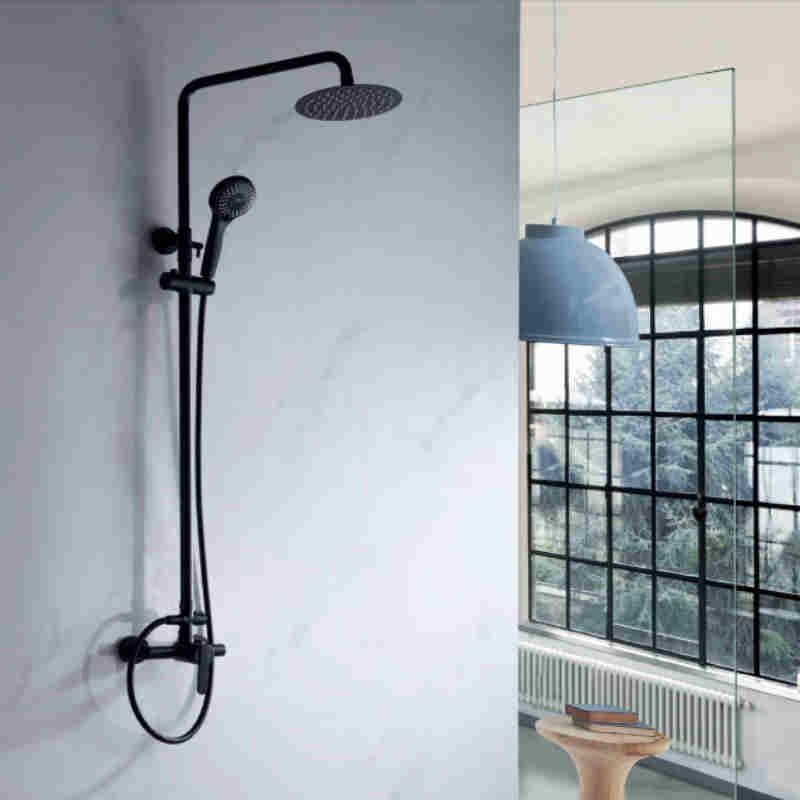 Conjunto de ducha BLACK ROMA monomando