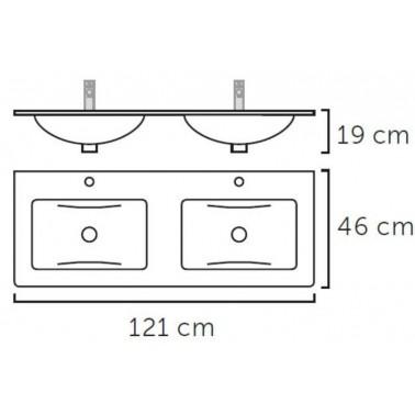Mueble de Baño GALSAKY 120