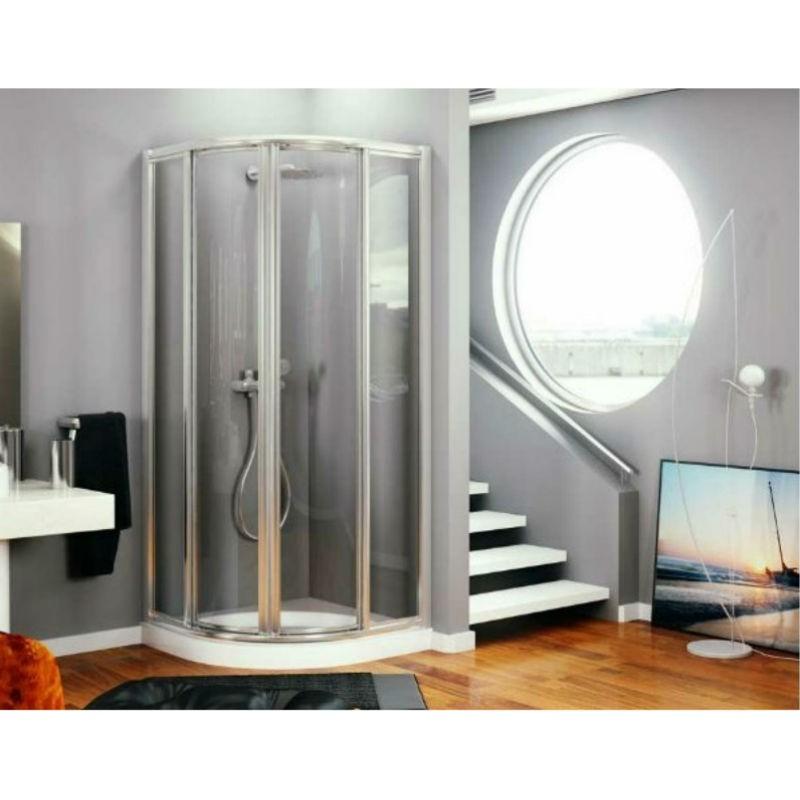 Mampara de ducha semicircular a medida reversible modelo - Medidas mamparas de ducha ...