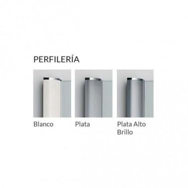 Mampara de ducha Profiltek Fijo + Corredera + Fijo HIT