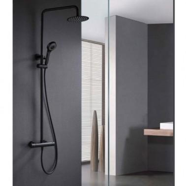 Conjunto de ducha termostático LONDRES BLACK