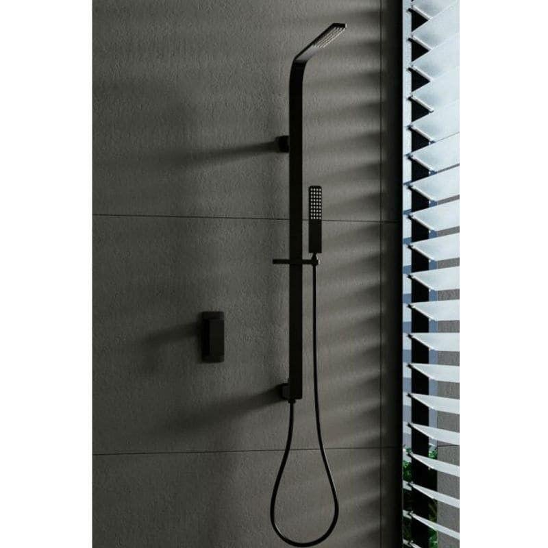Conjunto de ducha monomando BAHAMAS BLACK