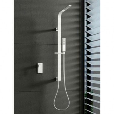 Conjunto de ducha monomando BAHAMAS WHITE
