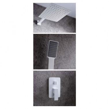 Conjunto de ducha monomando DUBLIN WHITE