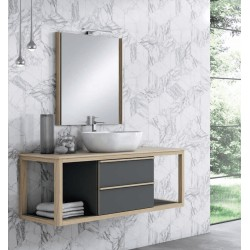 Mueble de baño AIR 120 2C + 2 huecos
