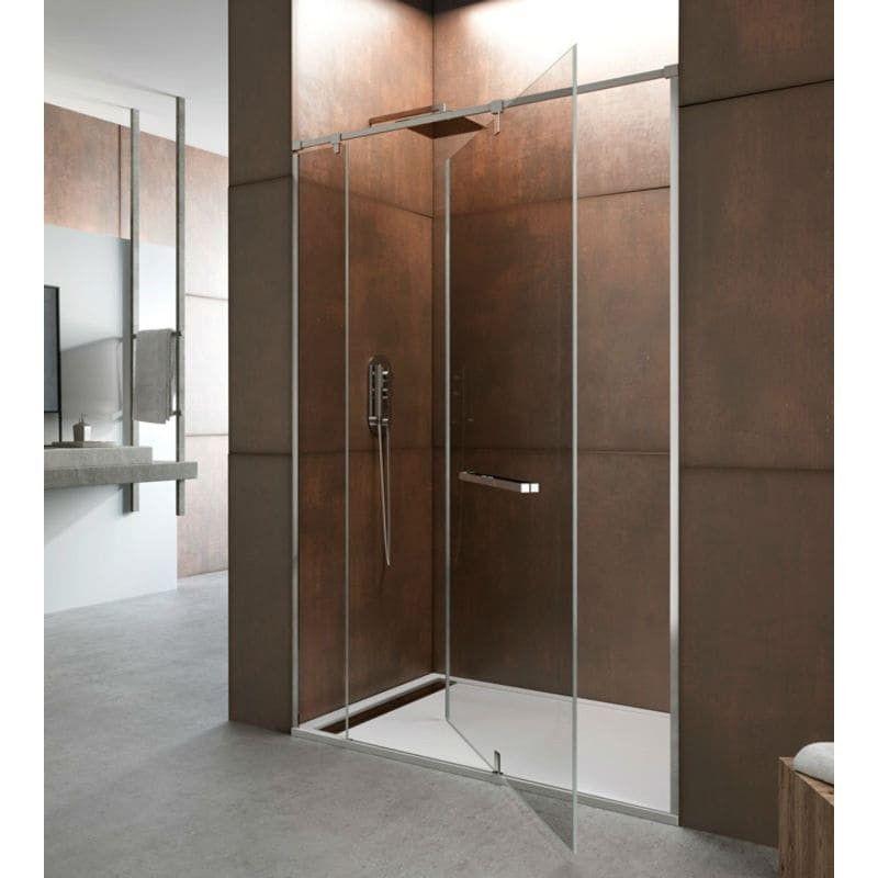Mampara de ducha GIRO 360º  1 fijo + 1 puerta