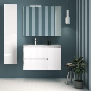 Mueble de Baño LOOK 90 2C + 1P perfil cromado