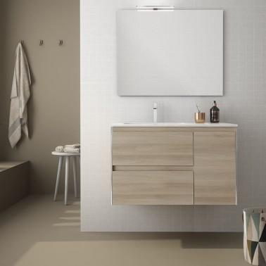 Mueble de Baño LOOK 90 2C + 1P perfil negro