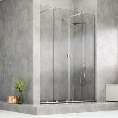 Mampara ducha 2 Fijas + 2 Correderas a medida NEPA