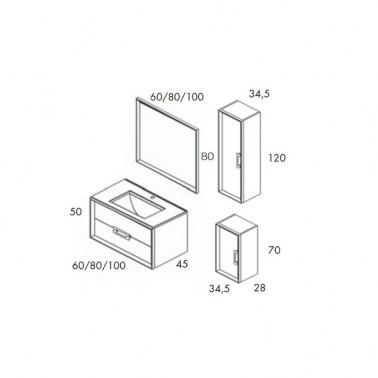 Mueble de baño DECOR 100 2C