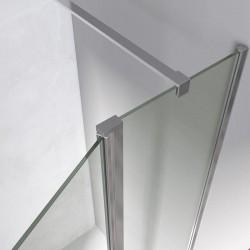 Mampara frontal 1 fijo + 1 puerta abatible NIMES