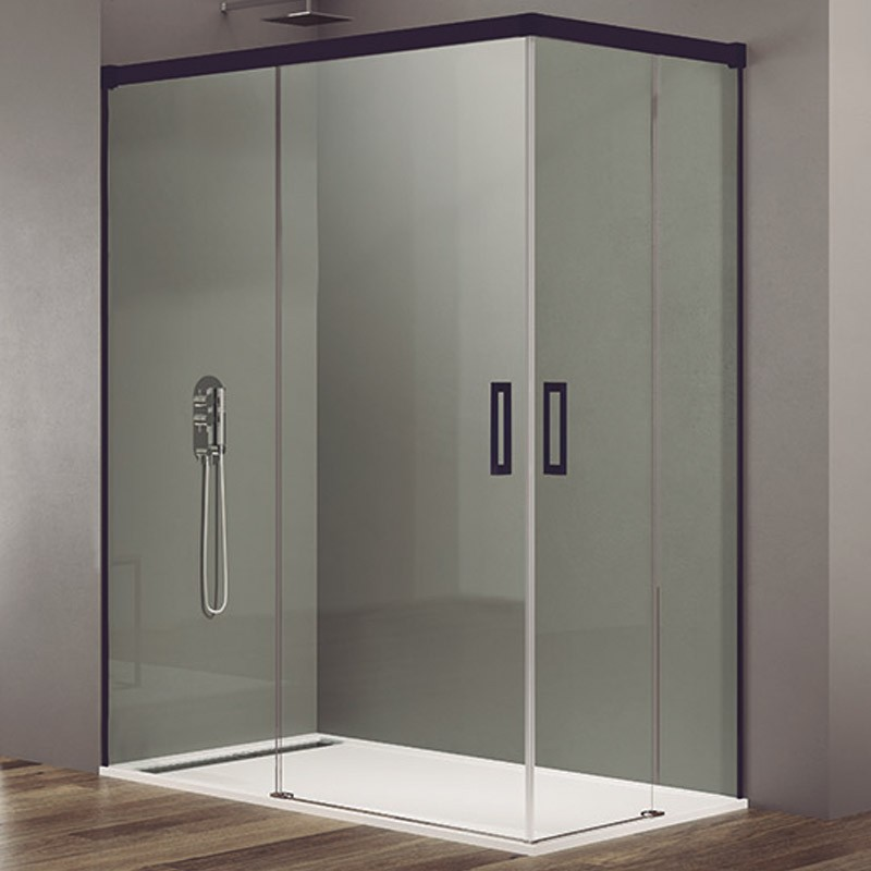 Mampara de ducha angular BASIC COLOR