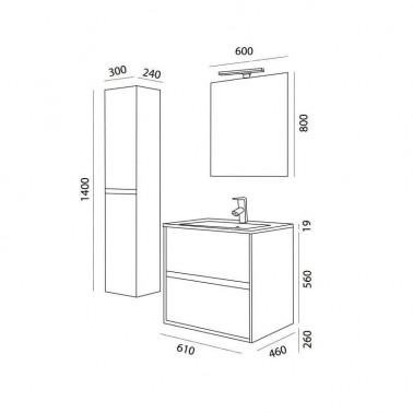 Mueble de Baño NOJA 60