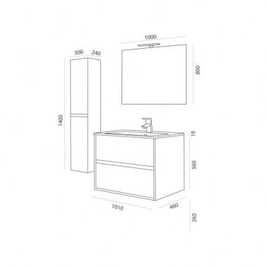 Mueble de Baño NOJA 100