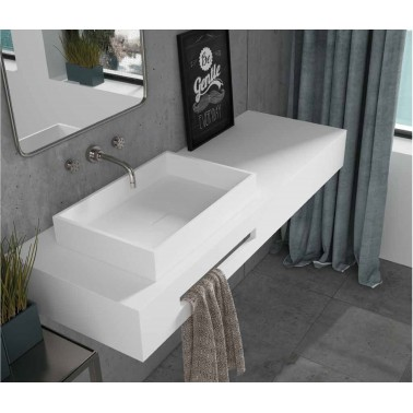 Lavabo de Solid Surface Square Line