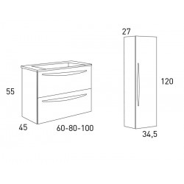 Mueble de Baño ARCO 100