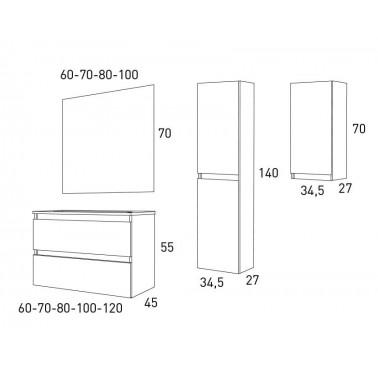 Mueble de baño Box 60 2C
