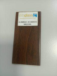Aluminio terminación madera
