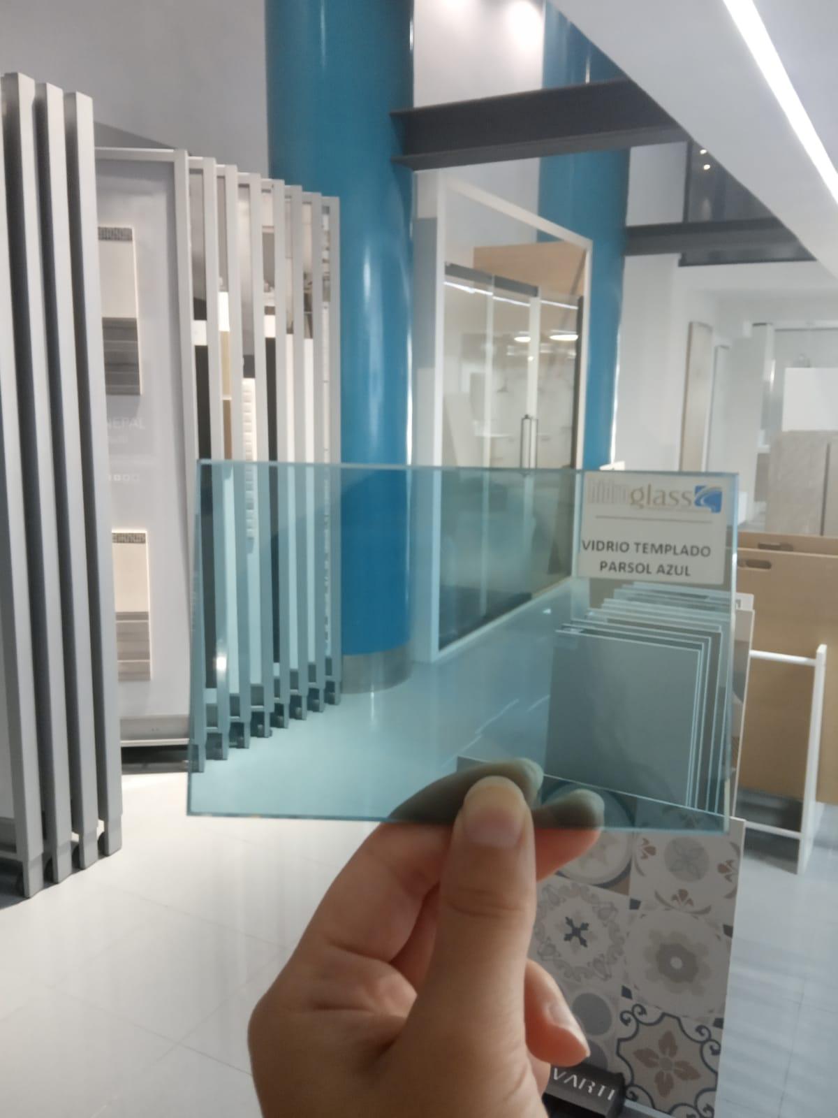 Vidrio Templado Parsol Azul