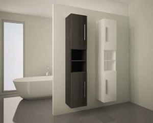 mueble baño columna gris y blanco puertas 60- asealia