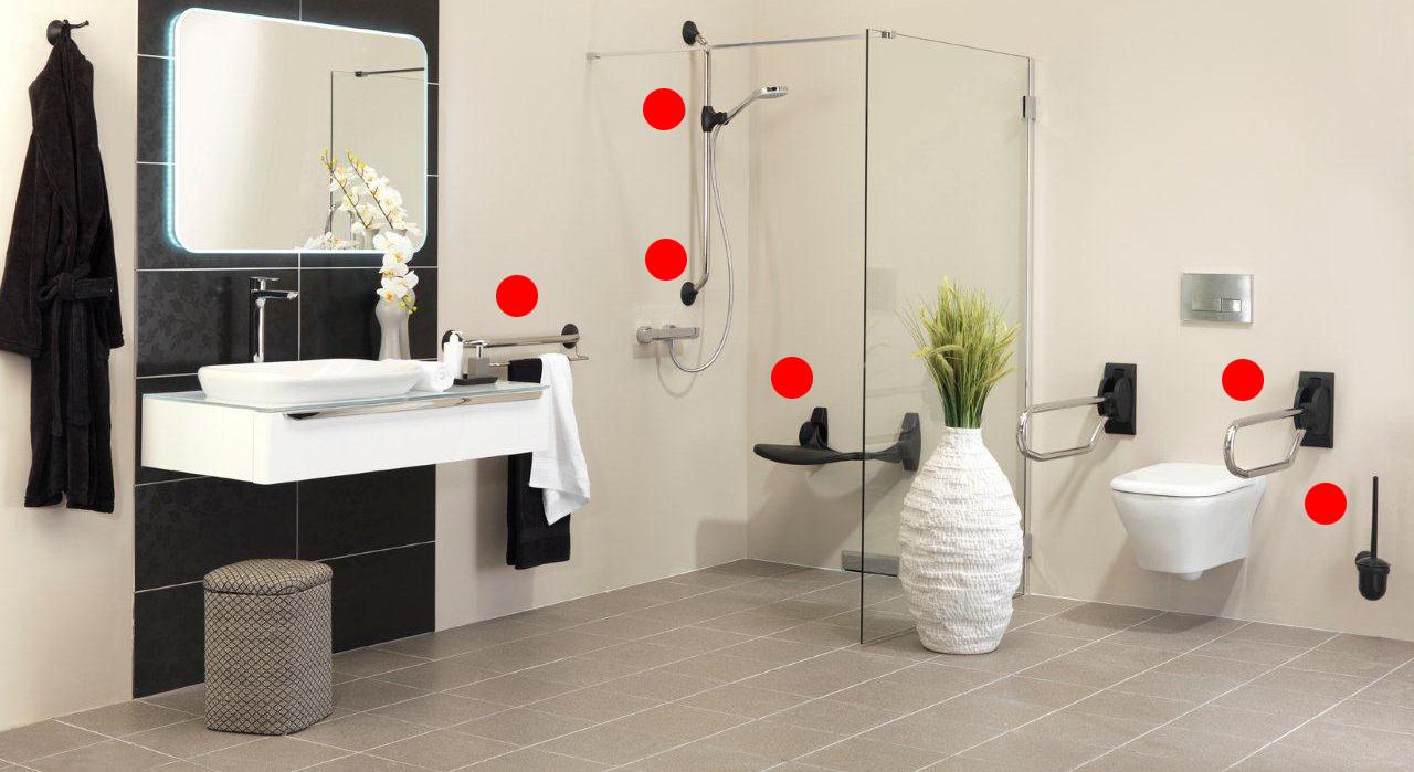 Accesorios de baños para minusvalidos