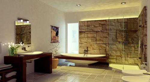 Baños modernos naturales